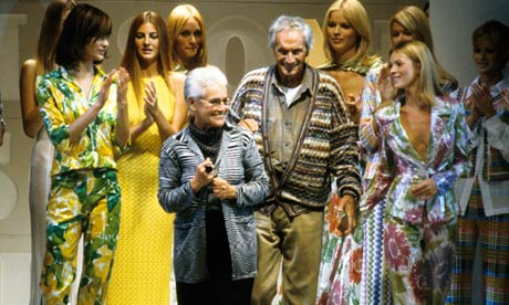 Ottavio Missoni with his wife, Rosita, in 1995