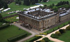 Aerial view of Chatworth House