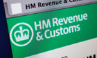 Computer screen showing the website for HMRC