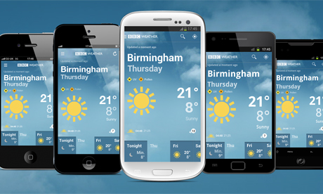 Bbc weather app launches for iphone and android for Application iphone temperature interieur