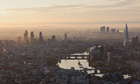 Aerial view of London - 13 Jun 2012