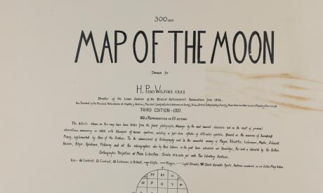 Title page of Wilkins' Map of the Moon