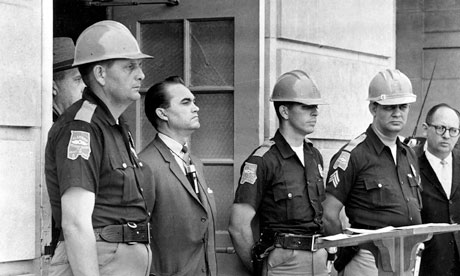 Governor George Wallace at Tuscaloosa University, Alabama, 1963
