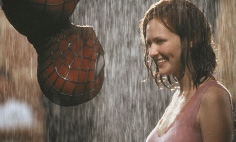 Actors Tobey Maguire and Kirsten Dunst in Spider-Man