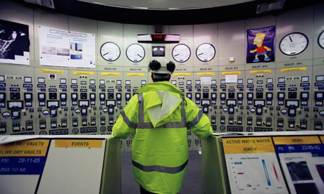 Hinkley Point nuclear power station near Bristol. The control room for Hinkley A, now decommissioned