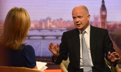 William Hague on The Andrew Marr Show: Calm down, everyone, calm down …