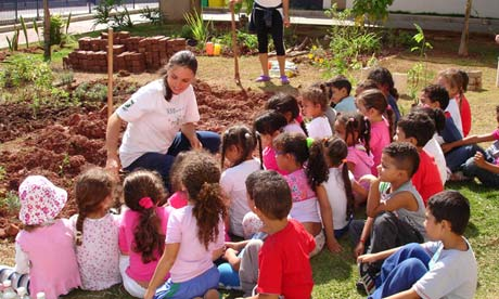 A sensory garden for children in Sao Paolo, Brasil