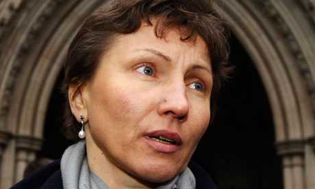 Alexander Litvinenko's widow Marina leaves the high court in London in February 2013