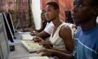 Ghana - Bolgatanga - learning computer skills