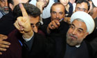 Hassan Rouhani casts ballot in Iran election