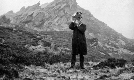 Photograph of Ian Brady at Ramshaw Rocks