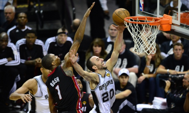 San Antonio Spurs guard Manu Ginobili struggled through the first four games but he was the biggest reason that the Spurs took Game 5 of the NBA Finals over the Miami Heat.