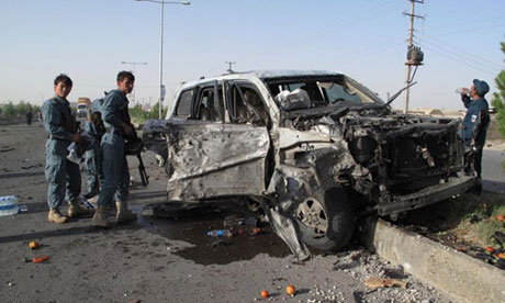 Blast during Afghan security handover...