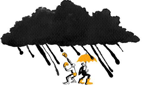 Rain cloud illustration - weather - by Belle Mellor