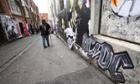 ACDC Fans congregate in ACDC lane in Melbourne's CBD before tonight's concert
