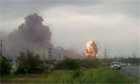Explosions rock Russian village after fire at ammunition depot