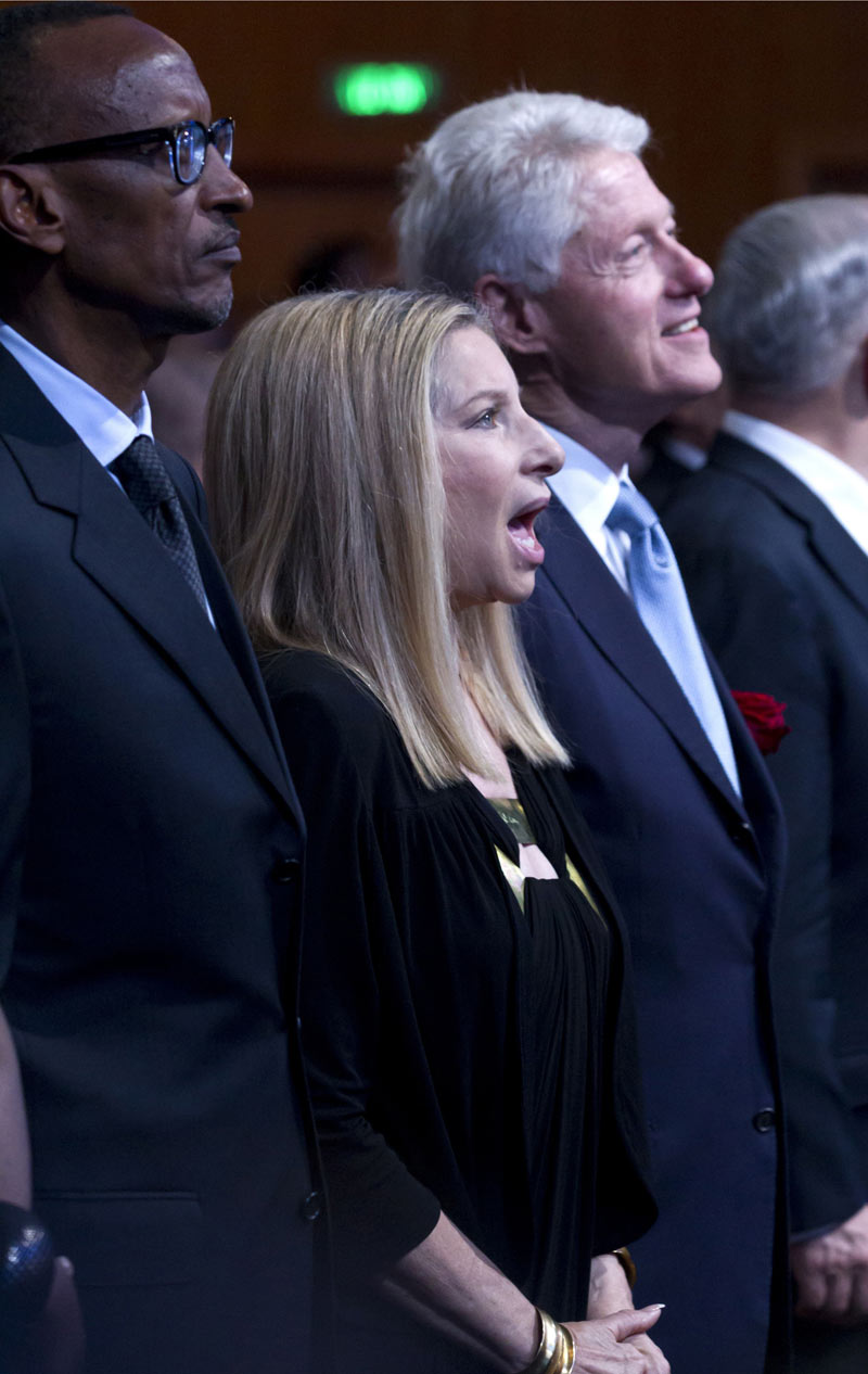 Barbra Streisand echoes Monroe's birthday tribute for Shimon Peres