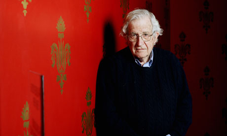 Noam Chomsky has praised the Guardian's revelations about the activities of the National Security Agency. Photograph: Graeme Robertson for the Guardian