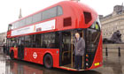 Boris Johnson launching the New Bus for London in 2011