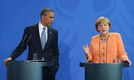 Barack Obama and Angela Merkel