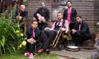 Alex Horne, centre, and his band the Horne Section.