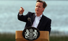 British Prime Minister David Cameron spe