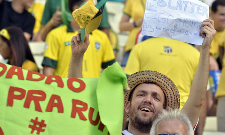Sepp Blatter urges Brazil protesters not to link grievances to football...