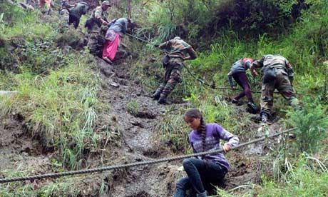 Indian landslides rescue