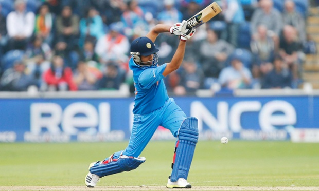 Rohit Sharma of India in full flow.