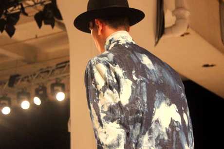 Bleached denim at Oliver Spencer