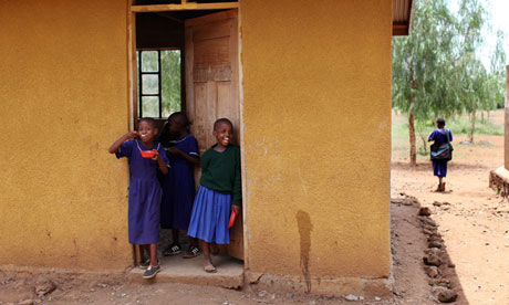 Young girls at Makuyuni school in Tanzania