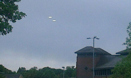UFOs – flying discs – spotted in the sky over in Bracknell in 2013.