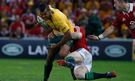 Kurtley Beale on the rampage.