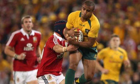 Will Genia of the Wallabies takes the high ball.
