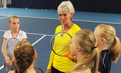 Judy Murray trains under-12 players at the Aegon Classic in Birmingham
