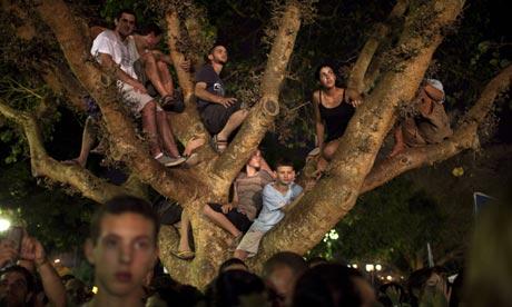 Protesters in Tel Aviv in September 2011