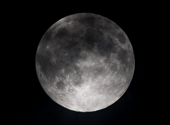 super moon: A picture taken on June 23, 2013 shows a