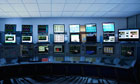 Computer screens in control room. Image shot 2010. Exact date unknown.