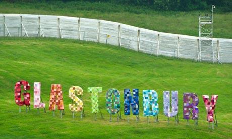 Glastonbury festival 2013 preperations