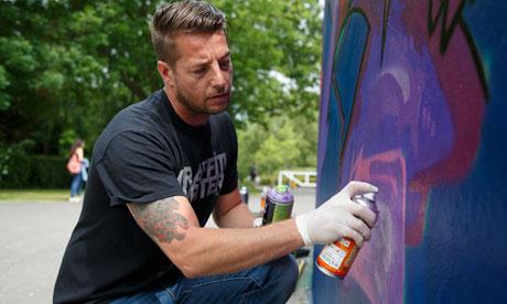 Graffiti artist Glynn Judd