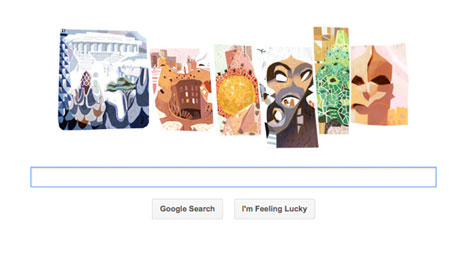 Google Pays Tribute to Antoni Gaudí With A Barely Recognizable Doodle