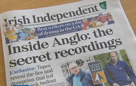 Irish Independent: TAPE RECORDINGS from inside doomed Anglo Irish Bank reveal for the first time how the bank's top executives lied to the Government about the true extent of losses at the institution.