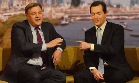 George Osborne Ed Balls spending review