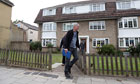 Police leave flats in Surrey where they arrested Zaid al-Hilli on Monday