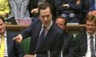 George Osborne announcing his spending review.