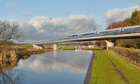Artist's impression of the HS2 Birmingham and Fazeley viaduct