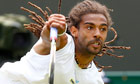 Dustin Brown playing for Germany at Wimbledon 2013