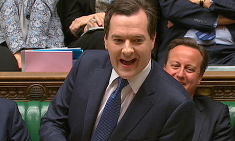 George Osborne unveiling a new round of cuts in the spending review