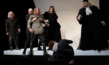a review of arthur millers magnificent play the crucible Parents need to know that the crucible is an intense 1996 exploration of the salem witch trials based on arthur miller's play it delves into the basest human instincts: violence, self-protection, lust, hypocrisy, territorialism, paranoia, and crowd mania.
