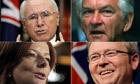 John Howard, Bob Hawke, Julia Gillard and Kevin Rudd
